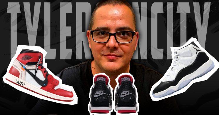 Egy sneakerhead az asztaloknál:Tylersuncity